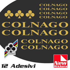 Set 12 adesivi COLNAGO colore ORO  bici bike stickers decals frame