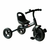 Baby Tricycle Toddler Trike Bike Ride On Steel Frame Kids Activity Sports Black