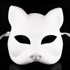 White Blank Cat DIY Women Masquerade Mask Mardi Gras Unisex Halloween