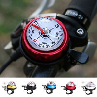 Bike Bicycle Invisible Bell Aluminum Loud Sound Compass Handlebar Safety HornTEC
