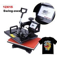 "T-Shirt 15""x12"" Digital Heat Press Machine DIY Gift Photo Sublimation Swing-away"