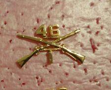 1ST BN,46TH INFANTRY REGIMENT,.OFFICER BRANCH OF SERVICE COLLAR DEVISE