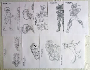 Saint Seiya Setting 28 Settei STEEL SAINT Shingo Araki