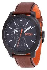 Hugo Boss 1550028 Orange with Brown Strap Cape Town Watch.