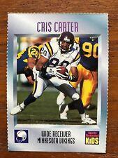 1995 Sports Illustrated For Kids Card Cris Carter Minnesota Vikings HOF NM