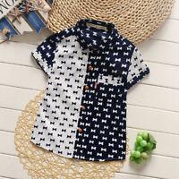 Summer Baby Boys Tops Short Sleeves Shirts T-shirt Clothes Children Fashion