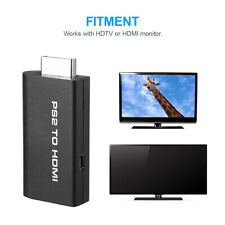 PS2 to HDMI Video Converter AV Adapter with 3.5mm Audio Output for HDTV Monitor