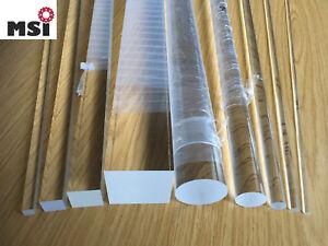 Acrylglas Rundstab Acryl Vierkant Stab L wählbar ab 6mm bis 100mm rund vierkant