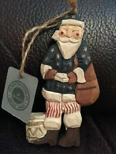 Boyds Bears Jill Strausbaugh Ornament Patriotic Santa
