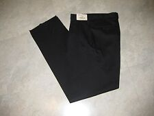 Men's Black Pleated Dress 100% Wool Pants 33 Regular New With Tags Made In USA