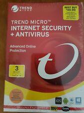 MicroTrend Antivirus Sealed IOS Mac Windows 10 Brand New sealed