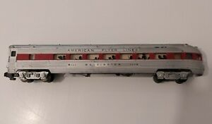 Vintage American Flyer S Scale Illuminated Washington 963 Observation Car