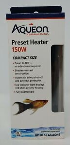 Aqueon Preset Heater 150W Compact Size Fresh/Saltwater Up To 55 Gallons #2534