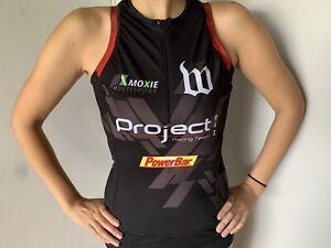 Wattie Ink Women's Cycling Sleeveless Jersey Shirt - Black - Medium
