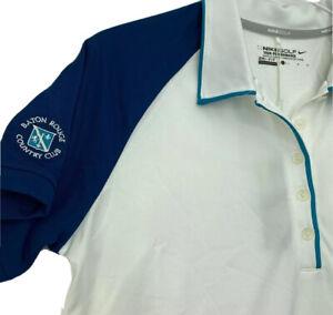 Nike Golf Dri Fit Women's Tour Performance Polo Custom Baton Rouge CC Large New