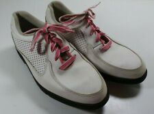 Women's FootJoy Junior GJ Girl's White/Pink Soft Spike Golf Shoes Size 5M