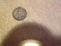 MADE FROM WORLD WAR 1 SCRAP IRON GERMANY COIN 5P  1914-1918 XFINE - UNCIRCULATED