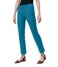 LOFT - Women's 0 (XS) - NWT $69 - Blue Cotton Stretch Julie Fit Crop Pants