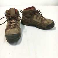 Wolverine Women's 6 M Brown Red Leather Steel Toe EH Safety Work Boots