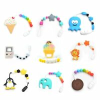Baby Teethers Animal Pacifier Clips Chain For Baby Gameboy Pendant Nipple Holder