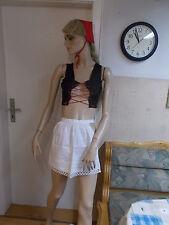Sexy Dienstmädchen Kostüm Damen Mädchen Reizwäsche mit Haube Schürze Oberteil