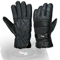 Black Motorbike Motorcycle Leather Gloves Waterproof Protection