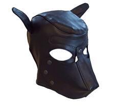 Kopfgeschirr Head Harness Echt Leder Hundemaske DOG Maske schwarz weich neu