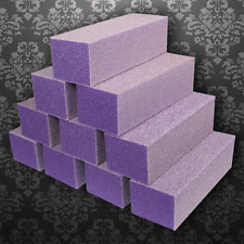 500 pcs Nail Buffer -  Dixon Buffer 3 Ways Block Purple -Grit 60/100 (X coarse)
