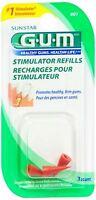 GUM Stimulator Refills [601] 3 Each (Pack of 4)