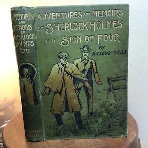 CONAN DOYLE, Adventures, Memoirs, Sign/Four, 1908 SCARCE ILLUS COMBO, Askew Pub