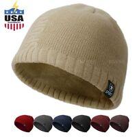 05e5880e32c Plain S46 Beanie Knit Ski Cap Skull Hat Warm Solid Cool Winter Cuff Blank  Sport