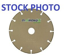 "NEW DIAMOND-X 6"" CUTOFF WHEEL SAW BLADE DXE0130P0605C 167412-2 TYPE-1 10,200-RPM"