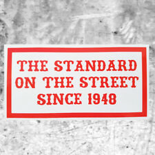 """Support de 81 stickers autocollant """"Standard on the street SINCE 1948"""" HAMC North End"""