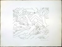 Vintage Etching Print, Dancing Nude VI, Signed by Knox Martin, Edition Number 75