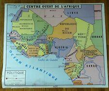 carte d'école - affiche scolaire 1960 Rossignol - centre ouest de l' afrique