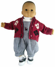 Scotty Dog Jumper, Top & Cardigan Sweater Outfit for Bitty Baby Boy Doll Clothes