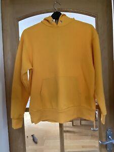 Womens Hoddie Sweatshirt Yellow Size S H&M