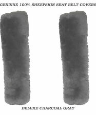 Charcoal Color 100% Genuine Sheepskin Seat Belt cover Comforter.
