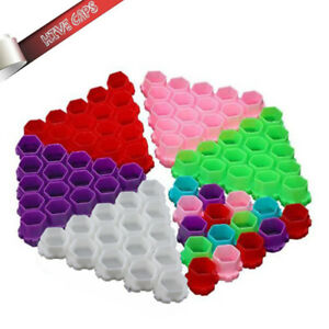 Colorful Hive Ink Cup Honeycomb Shape Tattoo Ink Cups Caps for Tattoo Accessorie
