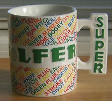 Shafford Super Golf Mug Coffee Cup Colorful Handle 1984 Terminology Sports Team