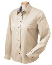Chestnut Hill Ladies' Performance Plus Twill Long Sleeve Dress Shirt XL