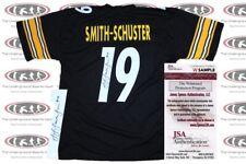 ac1174166 JuJu Smith-Schuster Signed Custom Black Pro Style Jersey JSA Witnessed