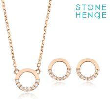 Stone Henge 14K Necklace Earrings Set SO0123SET 14K Rose Gold