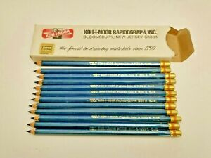 KOH-I-NOOR Projecto Color 1550 Blue Pencils USA Vintage Sharpened