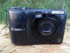Canon PowerShot A1200 12.1Mp Digital Camera - Black w/ Batteries + Usb Cable