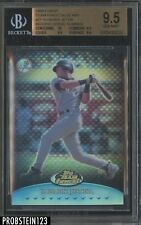 1999 Topps Finest Blue Refractor Derek Jeter Missing Serial Number BGS 9.5 w/ 10