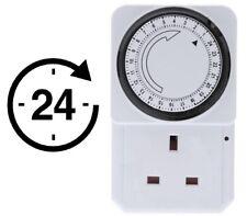 24 H Temporizador Enchufe Plug-in enchufe de alimentación de red Adaptador de enchufe de Reino Unido de 3 Pines De Reloj Calentador