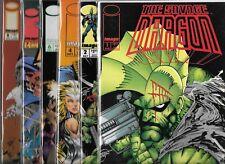 THE SAVAGE DRAGON LOT OF 7 - #1 #2 TEENAGE MUTANT TURTLES #3 #4 #6 #7 #8 (NM-)