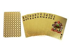 Gold Playing Cards 24k Foil Plated Full Deck Poker Gamble Geometric Design New