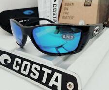 """580G - COSTA DEL MAR tortoise/blue mirror """"FISCH"""" POLARIZED sunglasses NEW!"""